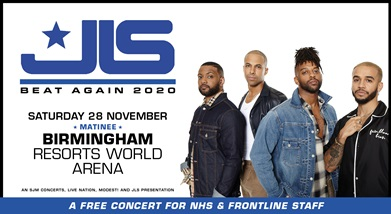 Image for JLS - FREE CONCERT FOR THE NHS AND FRONTLINE STAFF